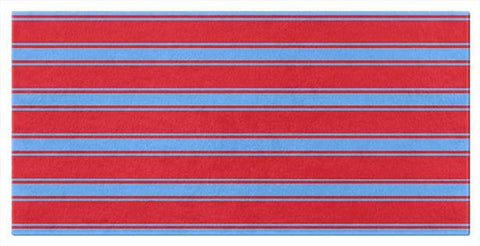 Red and Blue Striped Beach or Bath Towels