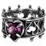 Alchemy Gothic ELIZABETHAN HEART Ring - Domestic Platypus