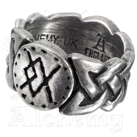 Alchemy Metal-Wear VIKING VIRILITY RUNE Ring - Domestic Platypus