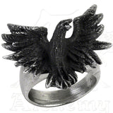 Alchemy Gothic FLOCKING RAVEN Ring