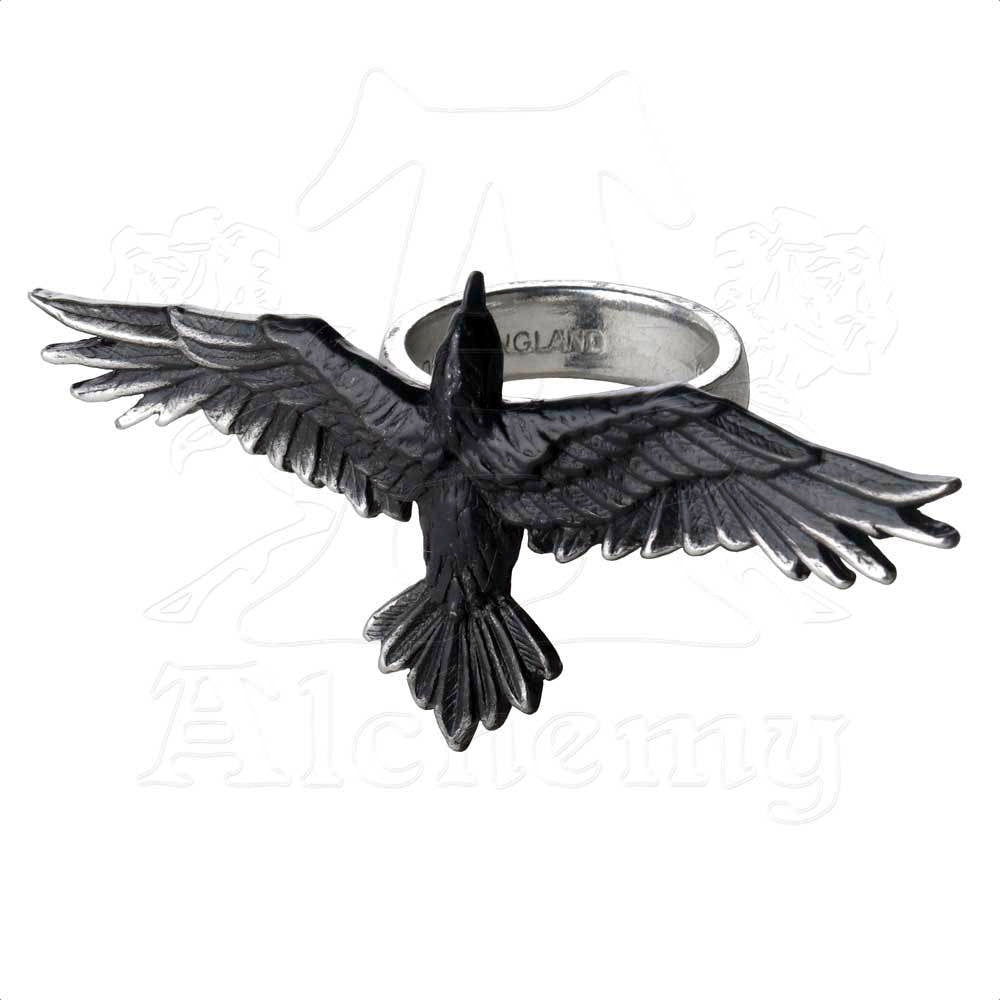 Alchemy Gothic BLACK CONSORT Handspan Ring - Domestic Platypus