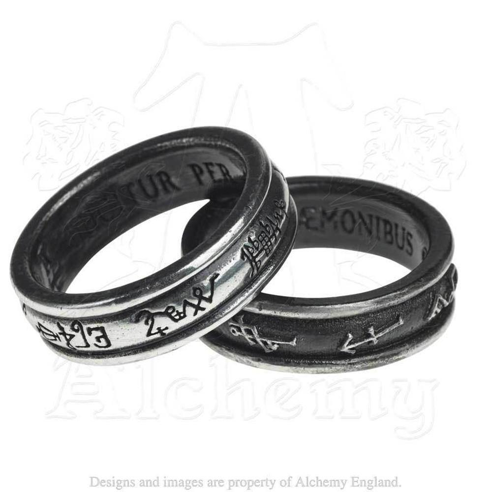 Angel White and Demon Black Sigil Rings - Domestic Platypus
