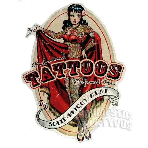 TATTOO PARLOR Retro Vintage Steel Sign