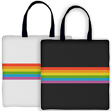 Rainbow Stripe Tote - Domestic Platypus