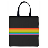 Rainbow Stripe Carryall Tote Bag