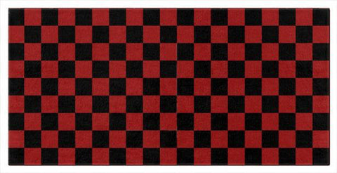 Red and Black Checkered Beach and Bath Towels