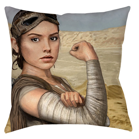 Rey Rosie Throw Pillow - Domestic Platypus