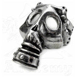 Alchemy Gothic ASPHYXIA Gas Mask Ring - Domestic Platypus