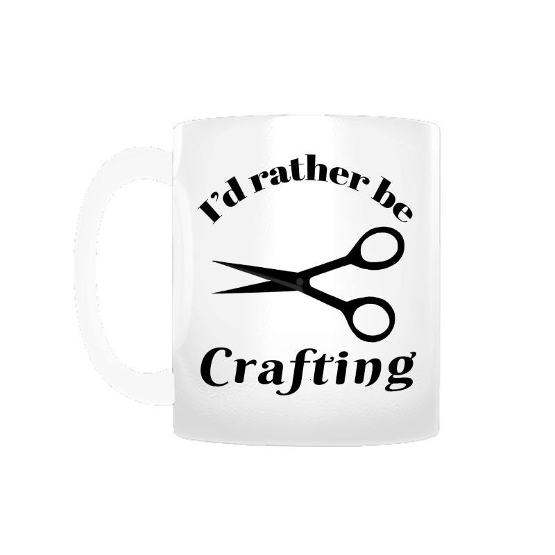 I'd Rather Be Crafting Coffee Mug
