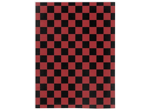 Red and Black Checkered Minky Blanket