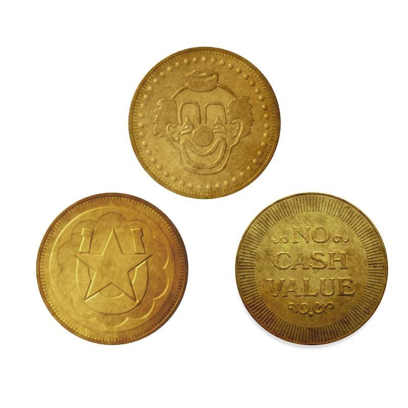 Retro Arcade Token Coasters