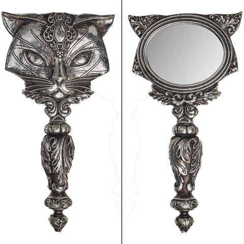 Sacred Cat Hand Mirror, Alchemy Gothic - Domestic Platypus