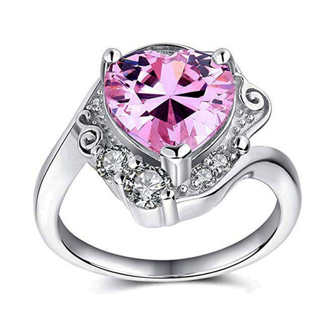 Domestic Platypus-Sailor Moon Usagi's Pink Heart Shaped Engagement Ring, Sterling Silver-Ring-[meta description]