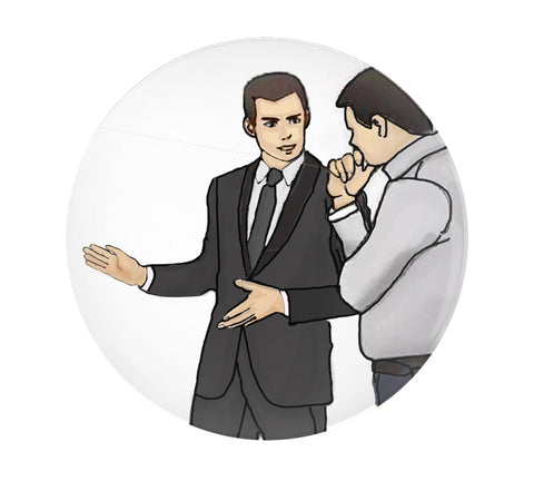 Domestic Platypus-Slaps Roof of Car Pinback Buttons - This Bad Boy Can Fit So Much Meme-Button-[meta description]