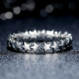 Stacked Stars Ring, Sterling Silver