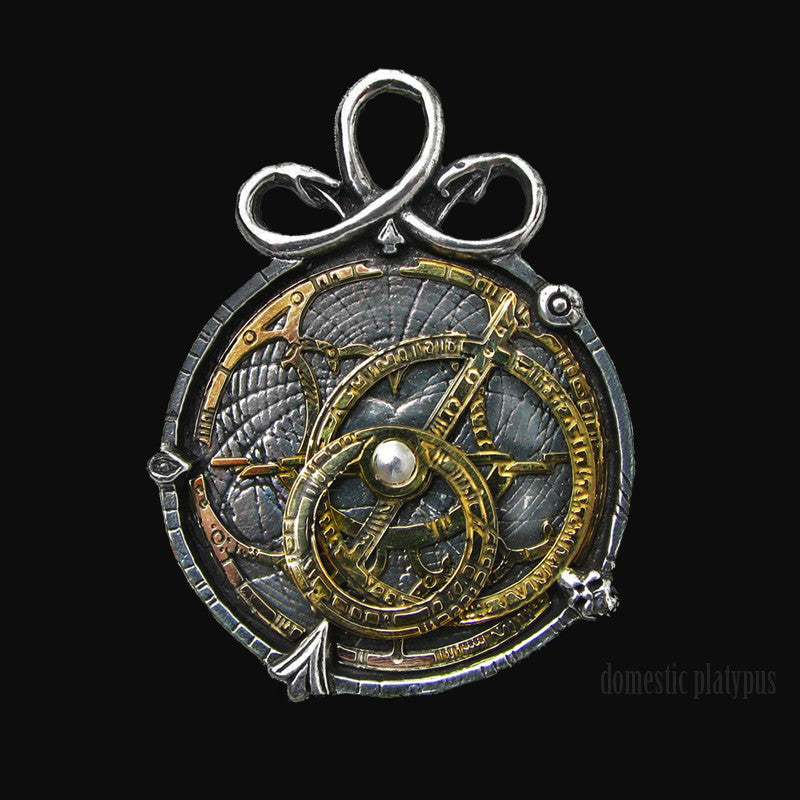 Alchemy Empire ANGUISTRALOBE Astrolabe Necklace - Domestic Platypus