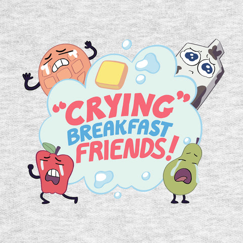 Domestic Platypus-Steven Universe Crying Breakfast Friends Tee, Officially Licensed-Shirt-[meta description]