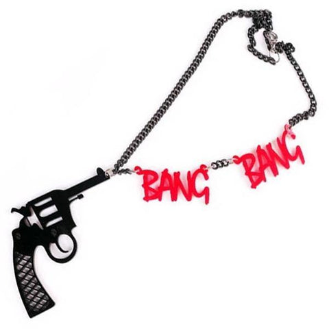 Domestic Platypus-Strangewave BANG BANG NECKLACE Chunky Acrylic Glam Pistol Punk Jewelry-Necklace-[meta description]