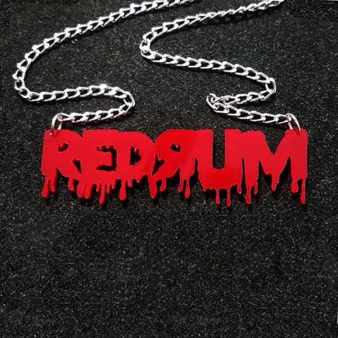 REDRUM Acrylic Necklace, Strangewave