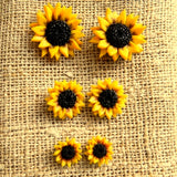 Sunflower Stud Earrings, Resin