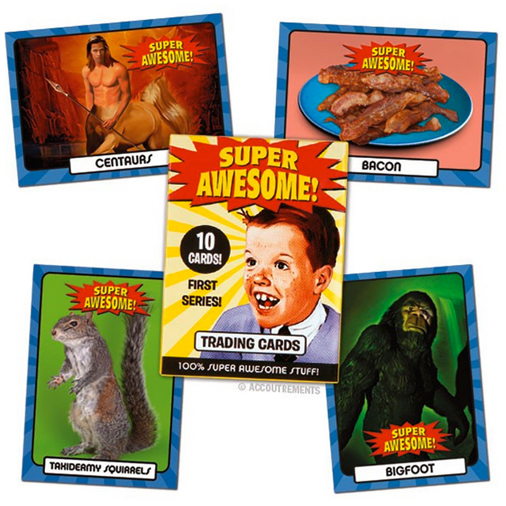 SUPER AWESOME! Retro Vintage Pop Culture Meme Trading Cards - Domestic Platypus