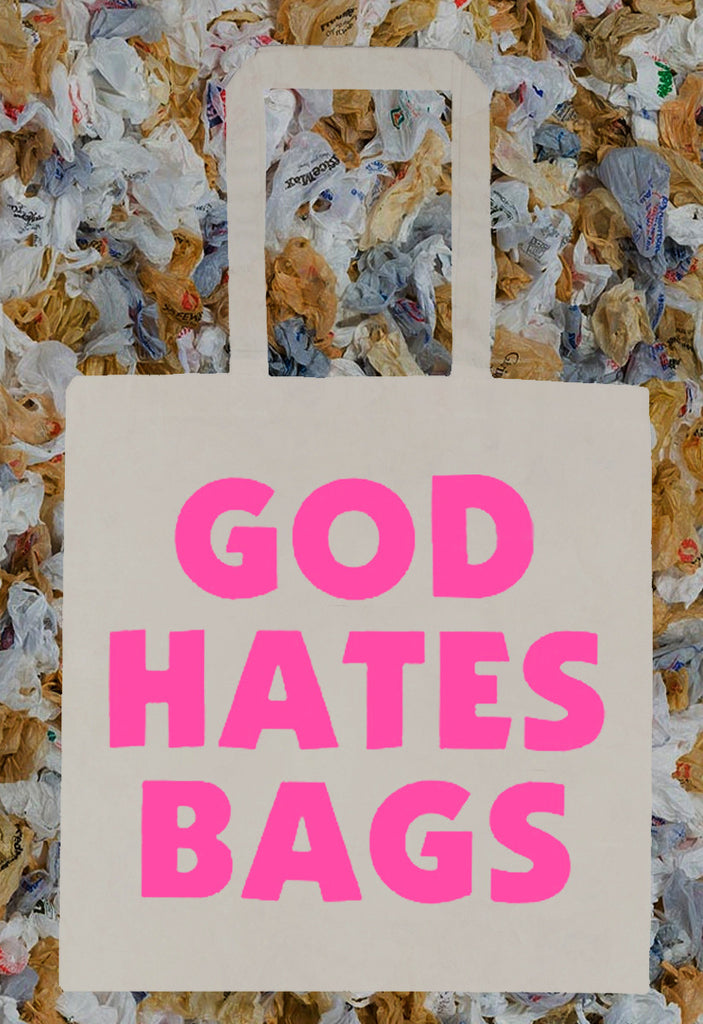Westboro Baptist Parody GOD HATES BAGS Tote Bag