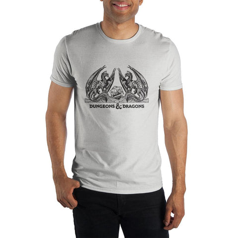 Domestic Platypus-Dungeons & Dragons Classic Logo Tee, Officially Licensed, AD&D D&D D20-Shirt-[meta description]