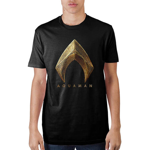 Aquaman Modern Golden Logo Tee