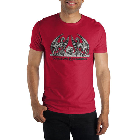 Domestic Platypus-Dungeons and Dragons Red Classic Logo Tee, Officially Licensed Shirt-Shirt-[meta description]