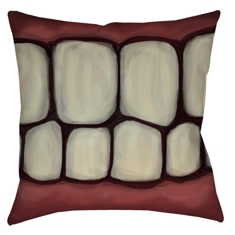 Toothy Throw Pillow - Domestic Platypus