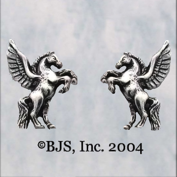 Sterling Silver PEGASUS Stud Earrings - Domestic Platypus