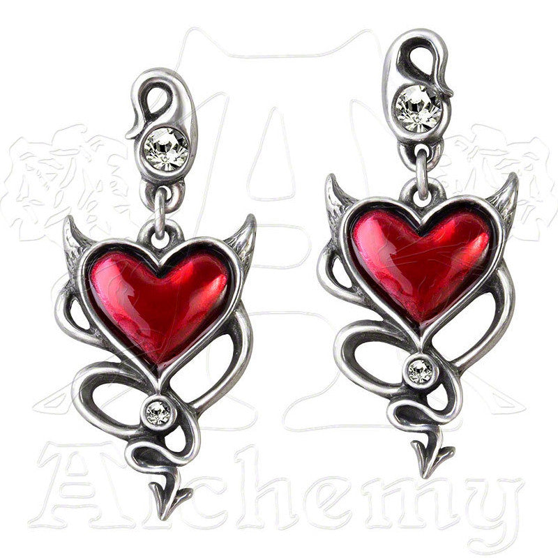 Alchemy UL17 Devil Heart Earrings - Domestic Platypus