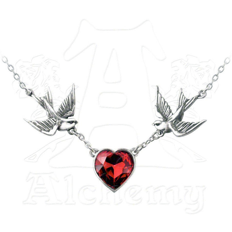 Alchemy Swallow Heart Necklace - Domestic Platypus