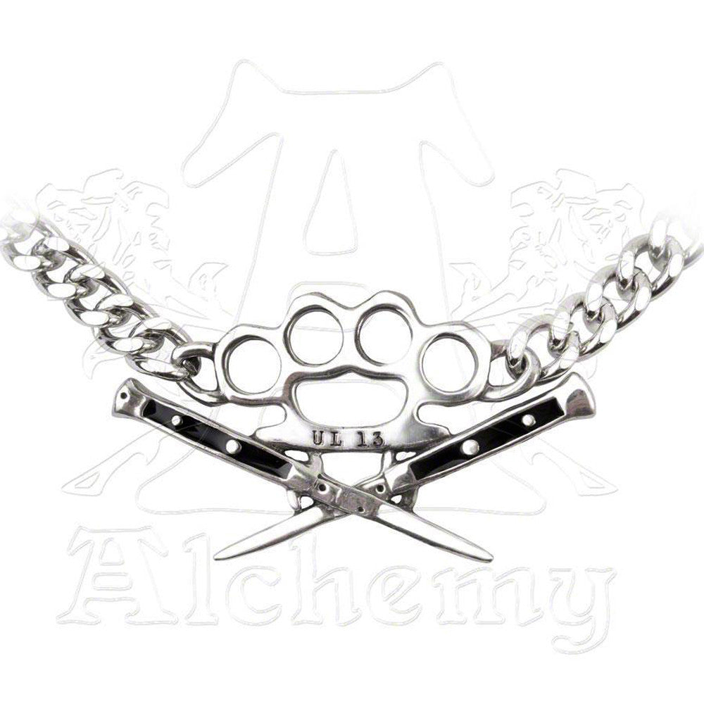 Alchemy KNUCKLE DUSTER & SWITCHBLADES Choker