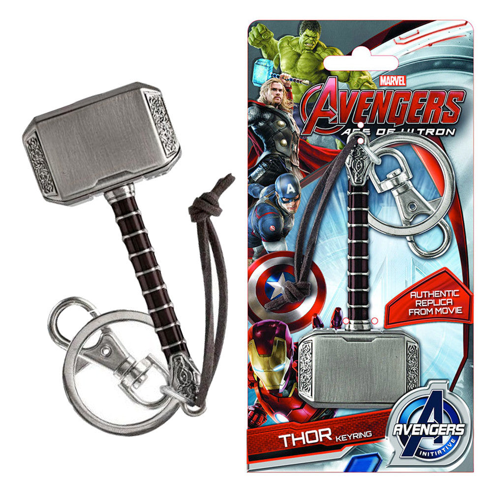 Marvel Avengers: Age of Ultron Thor's Hammer Keychain - Domestic Platypus