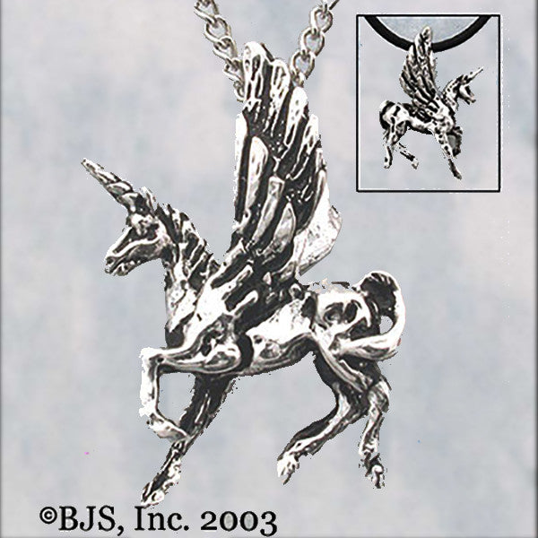 Winged Unicorn PEGACORN Pendant Necklace - Domestic Platypus