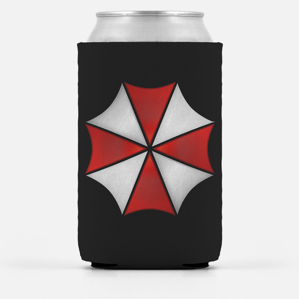Domestic Platypus-Umbrella Corporation Can Cooler, Evil Zombie Corp Drink Insulator Wrap-Koozie-[meta description]