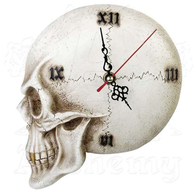 Alchemy Gothic Skull Wall Clock