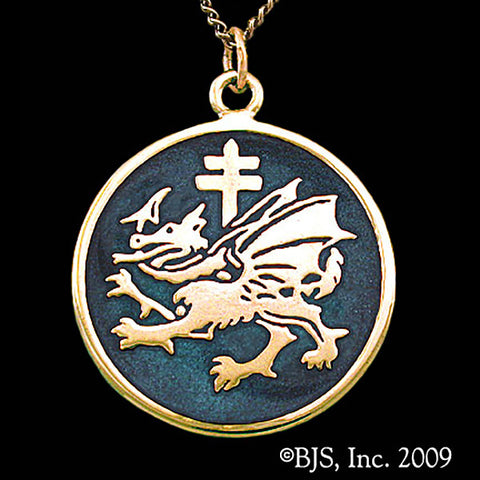 Dracula's ORDER OF THE DRAGON Pendant Necklace 14k Gold