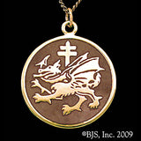 Dracula's ORDER OF THE DRAGON Pendant Necklace 14k Gold - Domestic Platypus