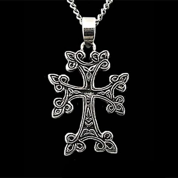 Celtic Triskele Knotwork Cross - Domestic Platypus