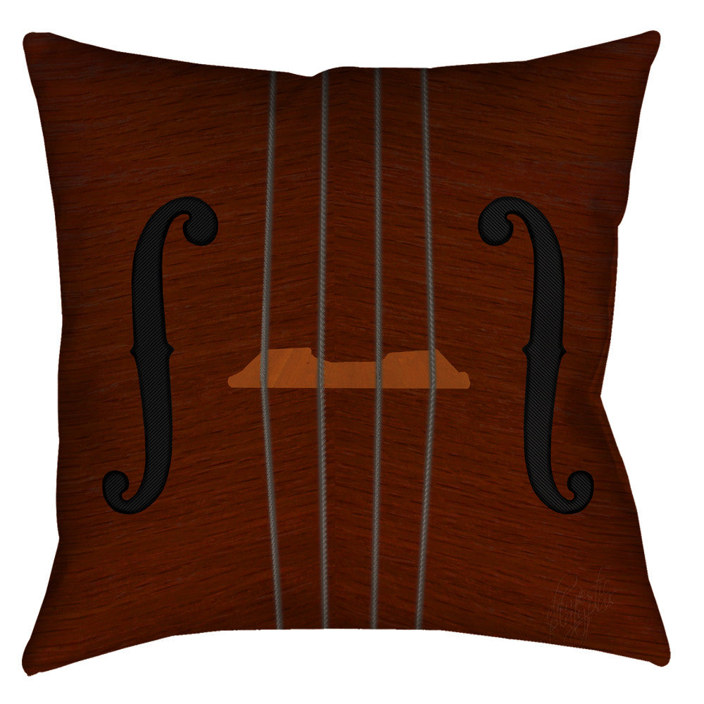 Violin Viola Cello Throw Pillow - Domestic Platypus