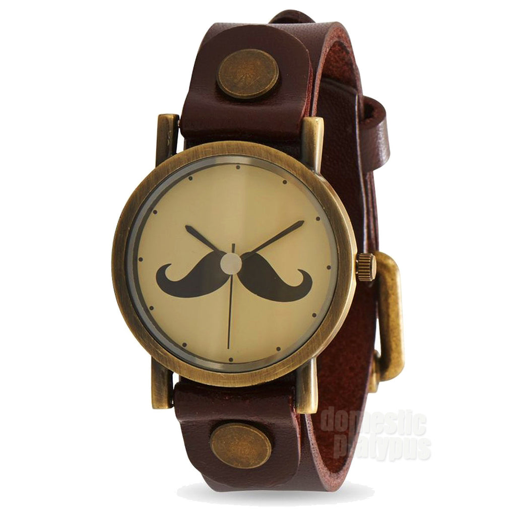 "Bade ""Dear Sir"" Mustache Watch"