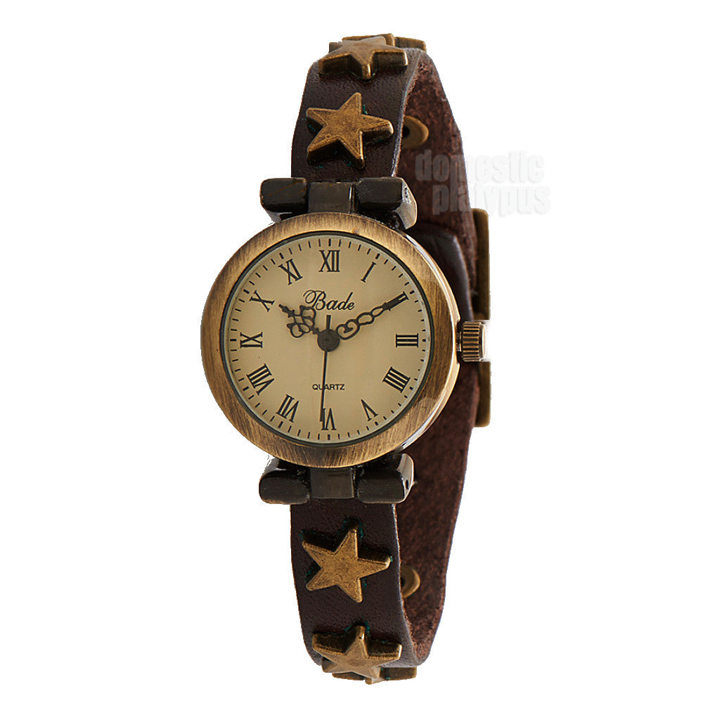 Bade Star Studded Antique Style Wrist Watch - Domestic Platypus