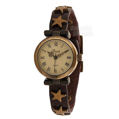 Bade Star Studded Antique Style Wrist Watch