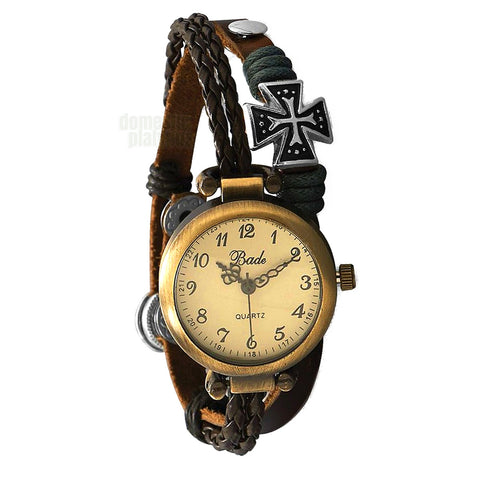 Bade Vintage Style Iron Cross Watch