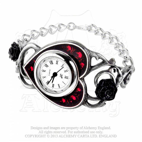 Alchemy Gothic BED OF BLOOD ROSES Wristwatch