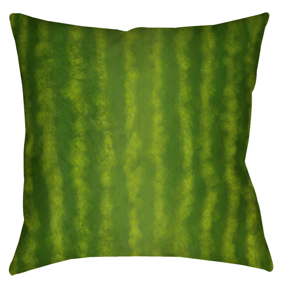 Watermelon Stripe Throw Pillow - Domestic Platypus