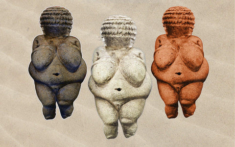 Venus of Willendorf Beach Towel