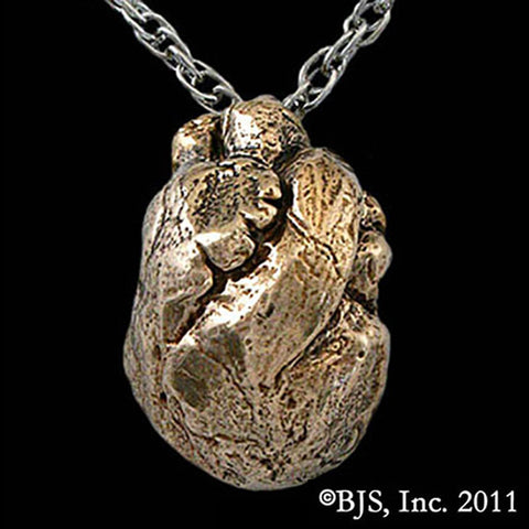 Bronze Anatomical HEART Pendant Necklace - Domestic Platypus